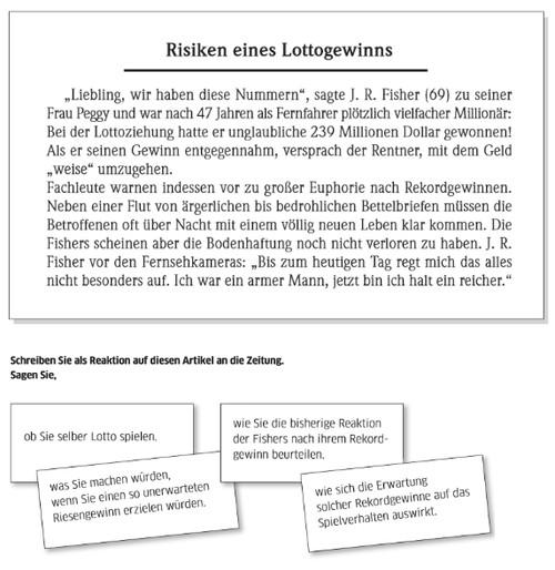 Risiken Eines Lottogewinns B2 Prüfung Learn German Italki Notebook